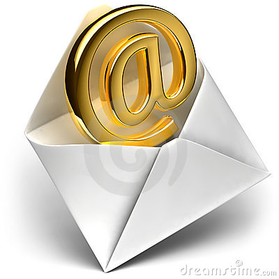 Free Golden E-mail Sign Stock Images - 12040304