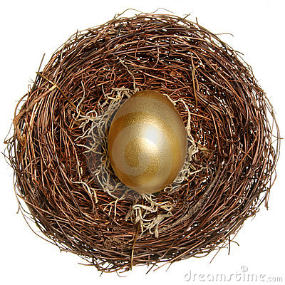 Golden egg financial concept
