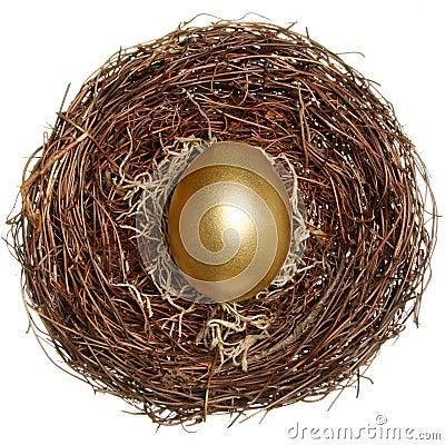 Golden egg financial concept