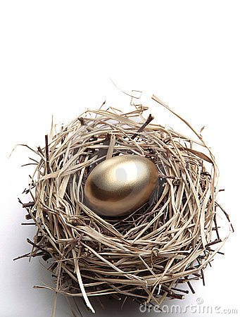 Free Golden Egg In The Nest Stock Image - 21939841
