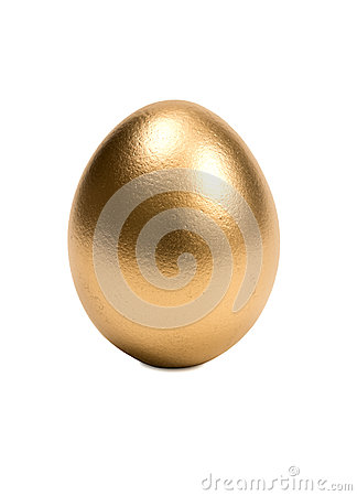 Golden Egg Isolated On A White Background