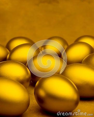 Golden Eggs Background