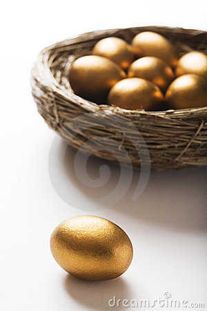 Free Golden Eggs In Nest Royalty Free Stock Photography - 6952127