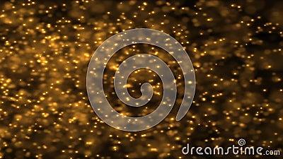 Golden explosion sparkling, holiday christmas new year celebration. HD 1080 royalty free illustration