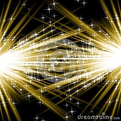 Golden explosions