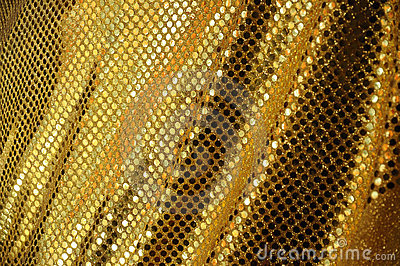 Golden fabric luxury