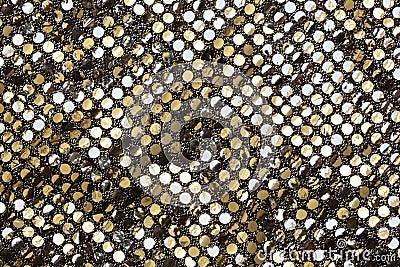 Golden fabric texture
