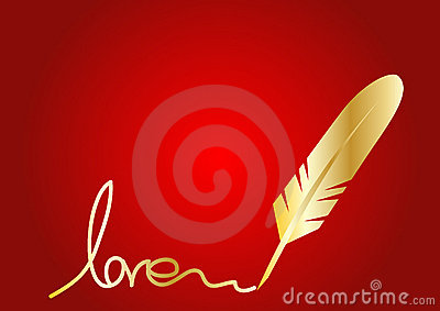 Golden Feather quill