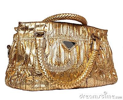 Golden feminine bag