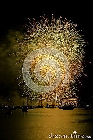 Golden Fireworks Vancouver