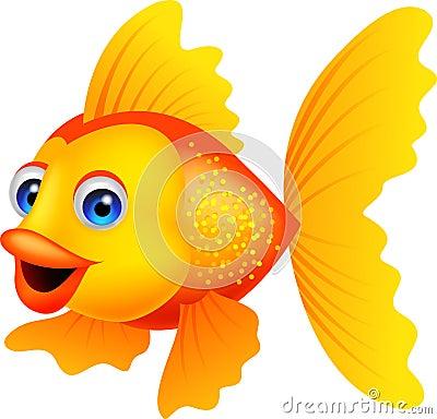 Free Golden Fish Cartoon Stock Photography - 30939242