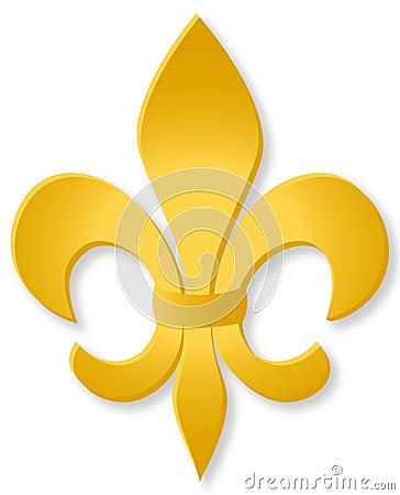 Free Golden Fleur De Lis/eps Stock Images - 5392264