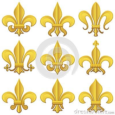 Golden Fleur de Lys Set