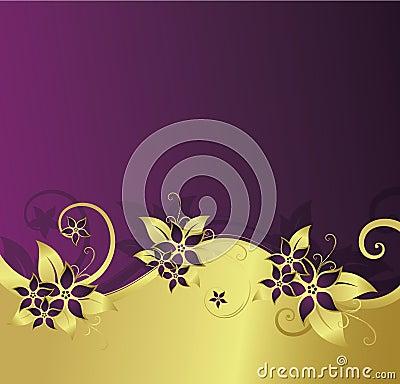 Golden floral background