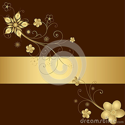 Free Golden Floral Frame Stock Photos - 26605763