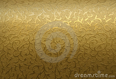 Golden floral ornament