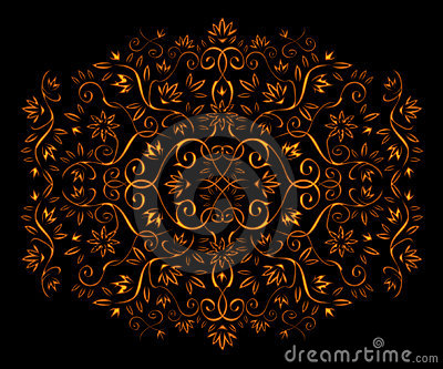 Golden floral ornament