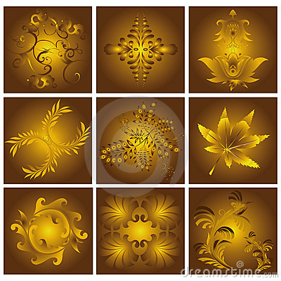 Golden floral Patterns