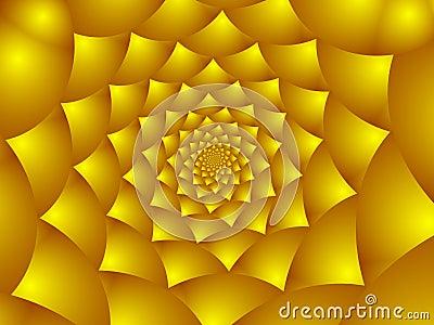 Golden flower petals.