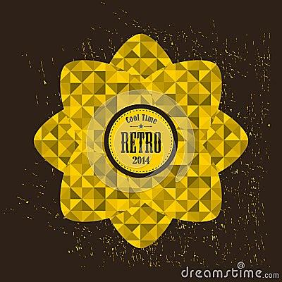 Golden flower, Vector Illustration