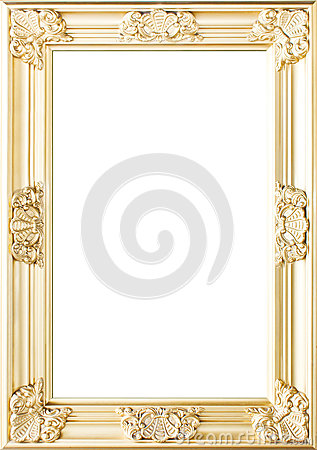 Golden Flowers Photo Frame