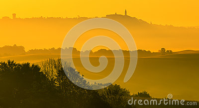 Golden fog in Tuscany