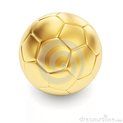 Golden football ball