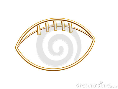 Golden football symbol