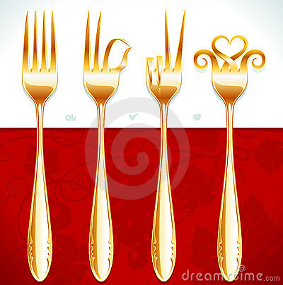 Free Golden Fork Gestures Stock Photos - 16449293