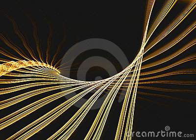 Golden fractal structure