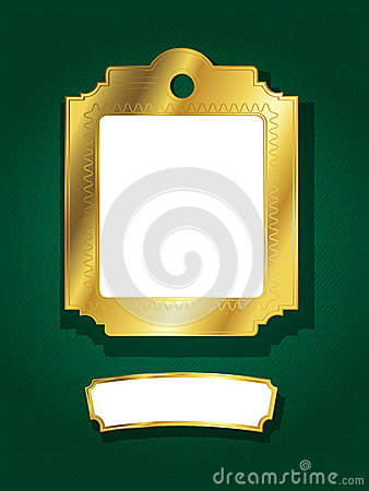 Golden frame and banner