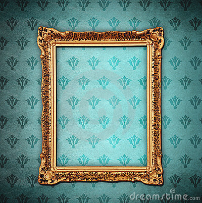 Free Golden Frame Over Grunge Wallpaper Royalty Free Stock Photo - 17318915