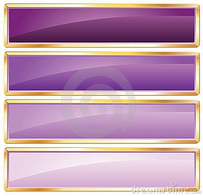 Golden frame purple