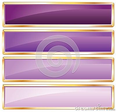 Golden frame purple