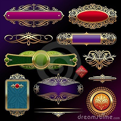 Free Golden Framed Labels & Decor Royalty Free Stock Images - 19961339