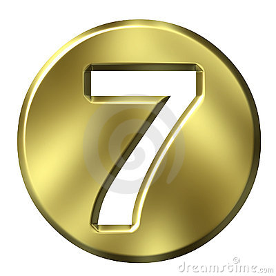 Golden Framed Number 7