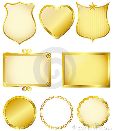 Free Golden Frames Stock Photography - 16406952
