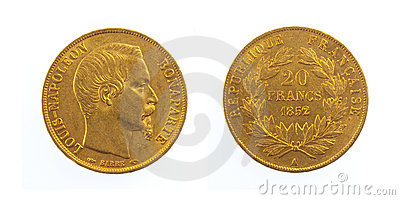 Golden French Coin