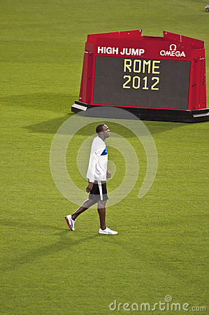 Golden Gala Rome 2012 Editorial Stock Image