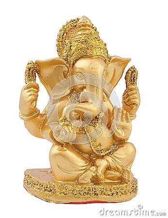 Free Golden Ganesh Royalty Free Stock Image - 24683656