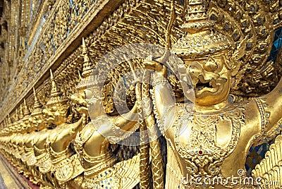 Golden garuda statue