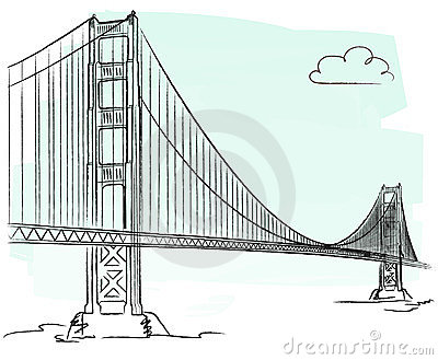 Golden Gate vector