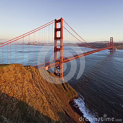 The Golden Gate Bridge as seen from the Marin Headlands