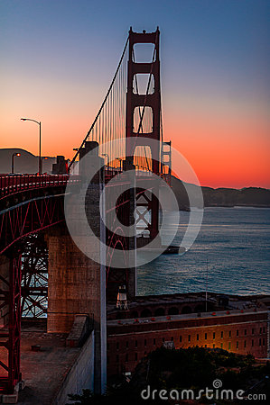 Free Golden Gate Bridge At Dusk Royalty Free Stock Image - 28029776