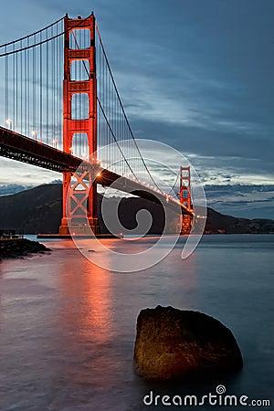 Free Golden Gate Bridge At Dusk Stock Photos - 31490693