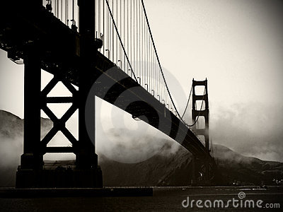 Golden Gate Bridge - Black and White