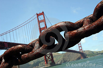 Golden Gate Bridge and Chain