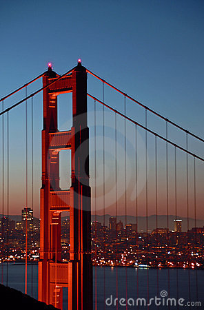 Free Golden Gate Bridge North Tower Stock Photography - 2053442