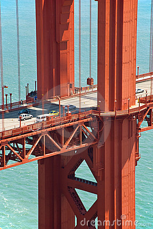 Golden Gate Bridge pillar in San Francisco