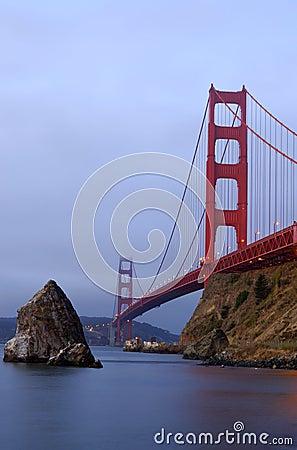 Golden Gate Bridge in the pre-